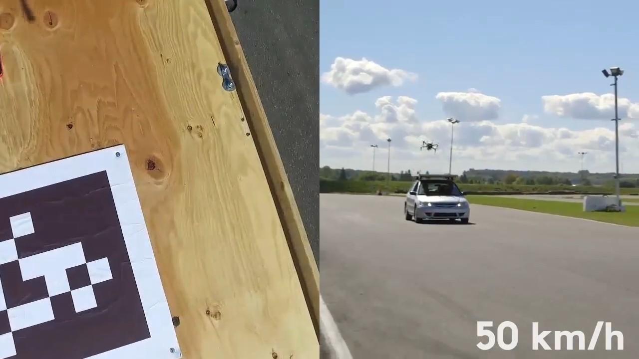 Мультикоптеры научились подсаживаться на крыши движущихся автомобилей - 1