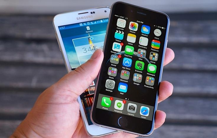 Рынок смартфонов продолжает расти без изменения в тройке лидеров