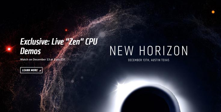 Процессоры AMD Zen можно будет увидеть уже 13 декабря