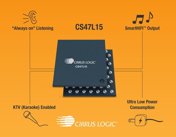 К особенностям Cirrus Logic CS47L15 можно отнести наличие встроенного эквалайзера и цифрового процессора сигналов