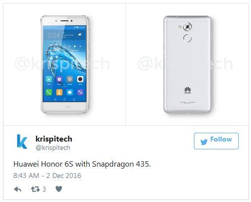 Появление Huawei Honor 6S на рынке ожидается в январе 2017 года
