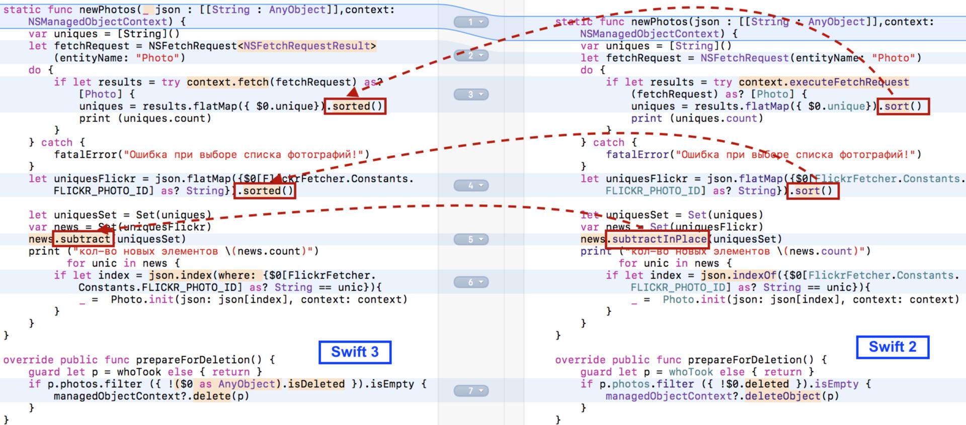 Переходим на Swift 3 с помощью миграционного «робота» в Xcode 8.1 и 8.2 - 30