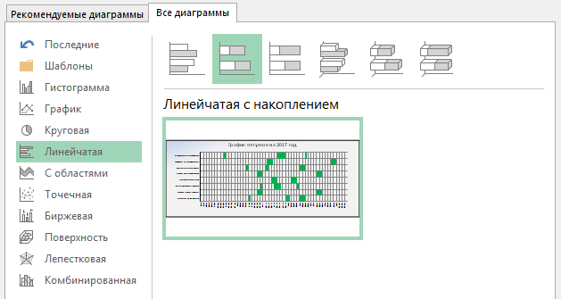 Шаблон графика отпусков (или графика обучения или иного графика) в MS Excel файле - 3