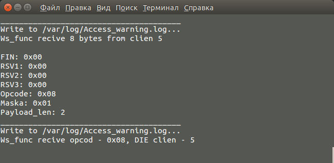 WebSocket-сервер, лайт-версия - 7
