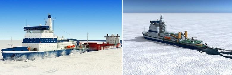 Мирный атом взламывает льды: наш атомный ледокольный флот - 64