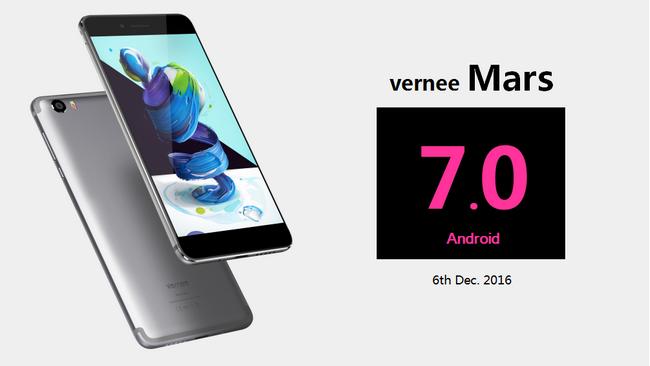 Vernee Mars первым среди смартфонов с SoC Helio P10 получил обновление до Android 7.0