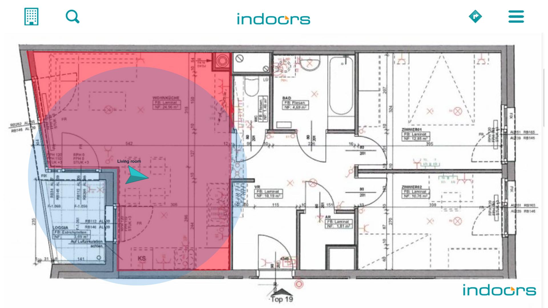 Навигация внутри помещений — первые шаги с indoo.rs NavigationSDK - 17