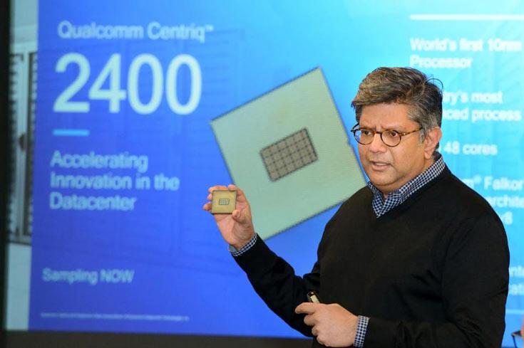 В конфигурацию процессоров Qualcomm Centriq 2400 входит до 48 ядер Qualcomm Falkor на архитектуре ARMv8