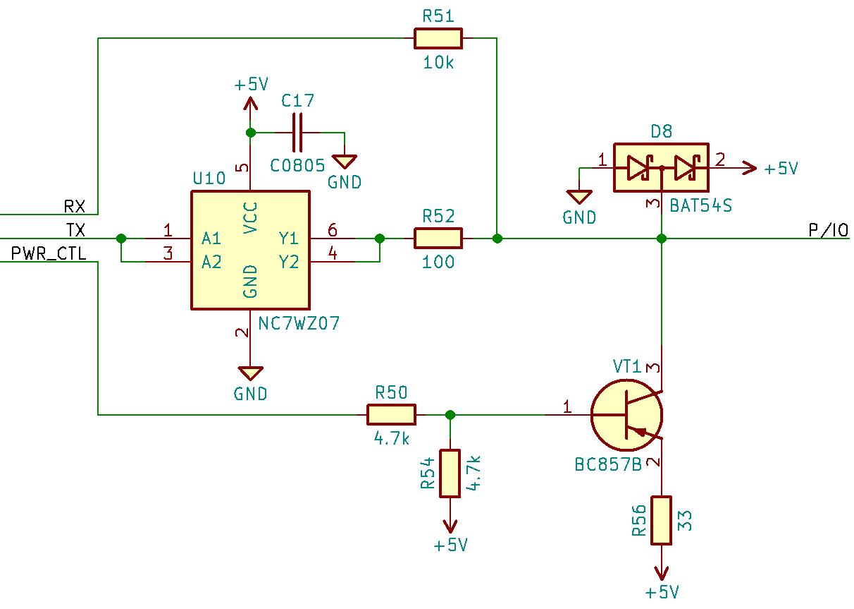 Схема линии P/IO