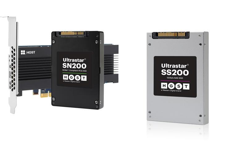 Образцы накопителей Ultrastar SN200 NVMe и Ultrastar SS200 SAS уже поставляются некоторым заказчикам
