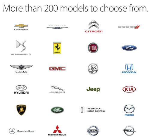 Более 200 моделей автомобилей поддерживают систему Apple CarPlay