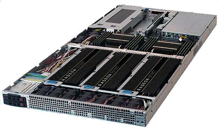 Референсная стойка со 120 ускорителями Radeon Instinct MI25 имеет производительность 3 PFLOPS