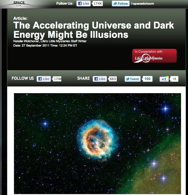 Тёмная энергия и тёмный поток – как всё это объяснить? - 7