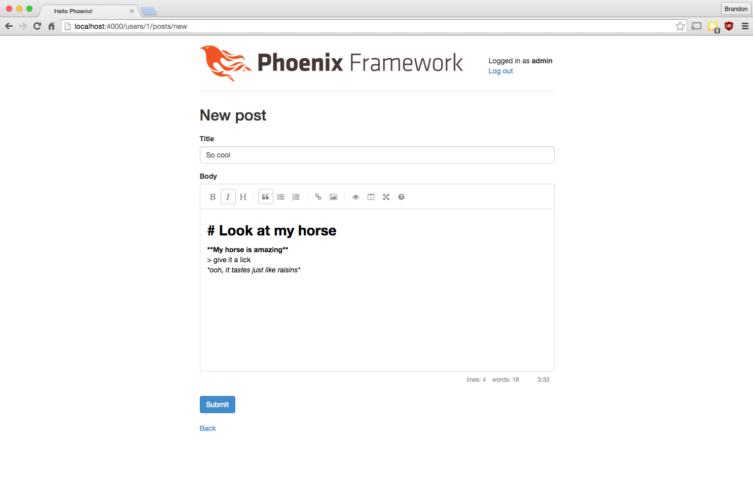 Создание движка для блога с помощью Phoenix и Elixir - Часть 6. Поддержка Markdown - 2