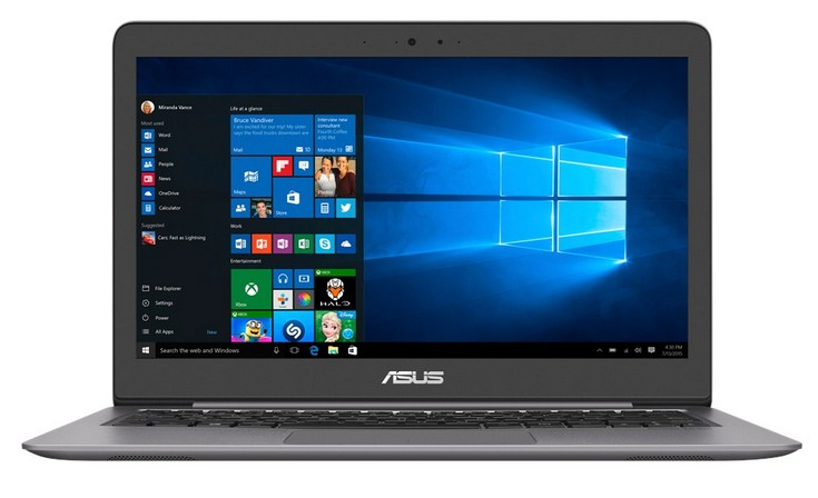 Asus обновила ноутбук Zenbook UX310