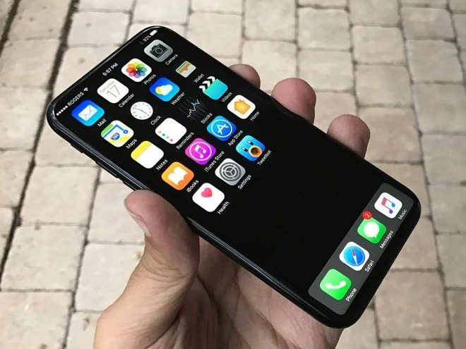 Предположительно, смартфон iPhone 8 с дисплеем OLED будет доступен только с изогнутым экраном