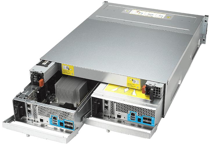 NAS Qnap ES1640dc v2 характеризуется повышенной отказоустойчивостью