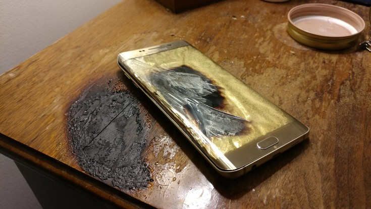 Загорелся ещё один смартфон Samsung Galaxy S6 Edge Plus