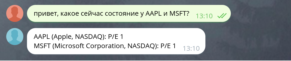 Финансовый Telegram-бот за 30 минут с Market Data API - 5