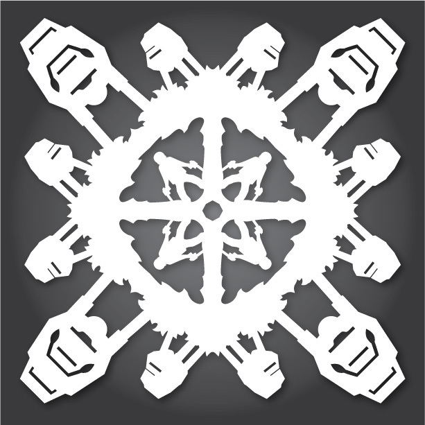 Снежинки в стилистике StarWars своими руками (upd. 2016) - 2