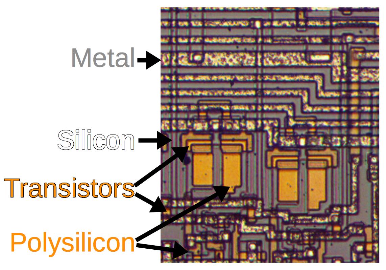 Фотографии кристалла процессора Intel 8008, который дал жизнь первым ПК - 4