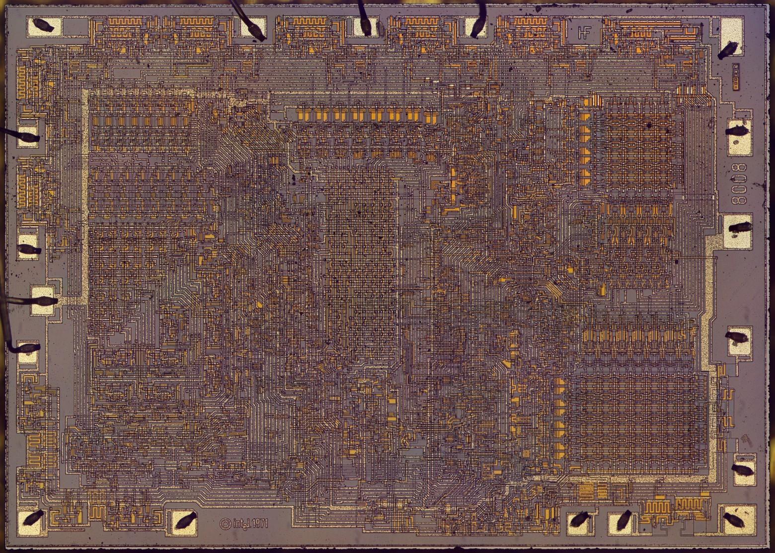 Фотографии кристалла процессора Intel 8008, который дал жизнь первым ПК - 5