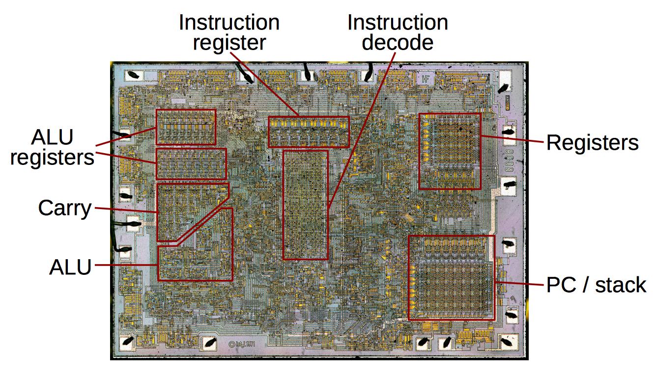Фотографии кристалла процессора Intel 8008, который дал жизнь первым ПК - 6