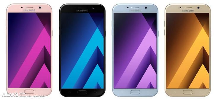 Смартфоны Samsung Galaxy A будут доступны в чёрном, золотом, розовом и голубом цветах
