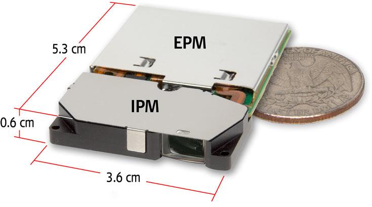 В модулях PSE-0403-101 и PSE-0403-102 блок лазерной развертки, изготовленный по технологии MEMS, дополнен блоком управления