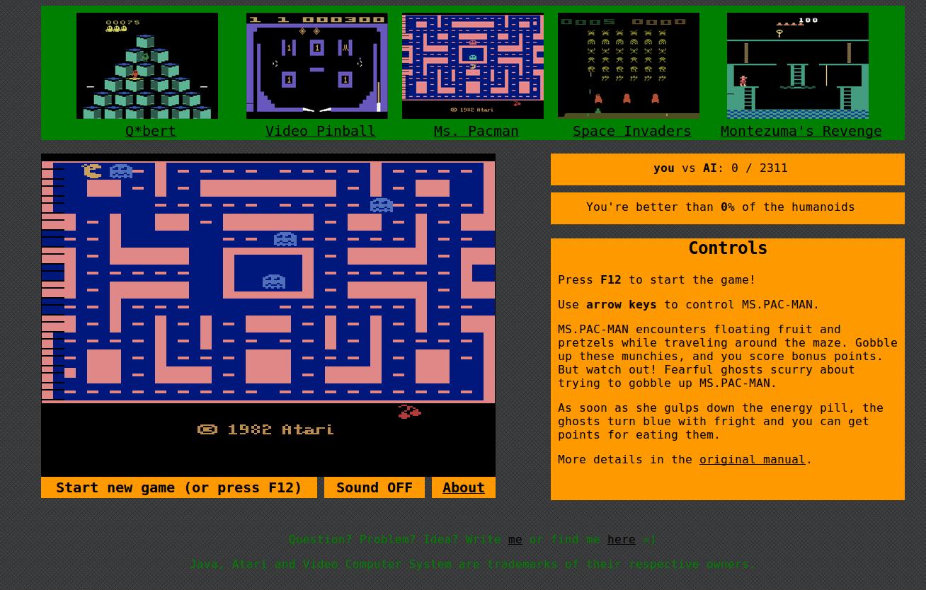 Сбор данных Atari 2600 для обучения с подкреплением - 1