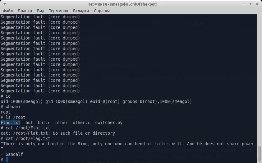 VulnHub: Эксплуатируем уязвимость переполнения буфера в Lord Of The Root - 21