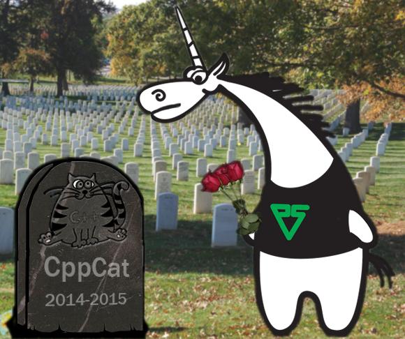 Рисунок 6. Проект CppCat был хорош всем. У него было простое название, в нем были простые настройки, его мог приобрести себе индивидуальный разработчик. Плохо было одно: он не приносил денег.