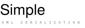 Simple Xml Framework