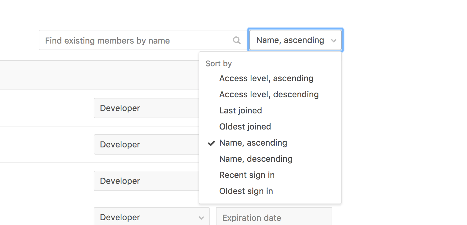 Easily find people in projects and groups in GitLab 8.15