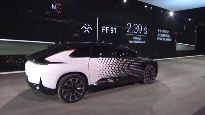 Электромобиль Faraday Future FF91 отнял у Tesla Model S P100D звание самого динамичного серийного автомобиля