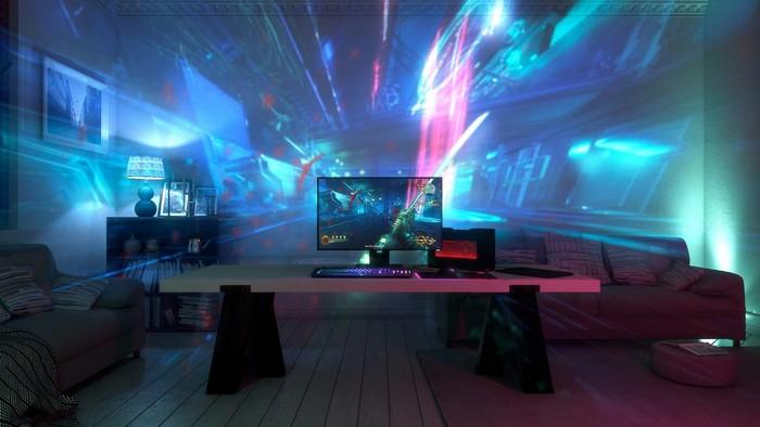 Razer показала систему Project Ariana, принцип работы которой позаимствован у IllumiRoom