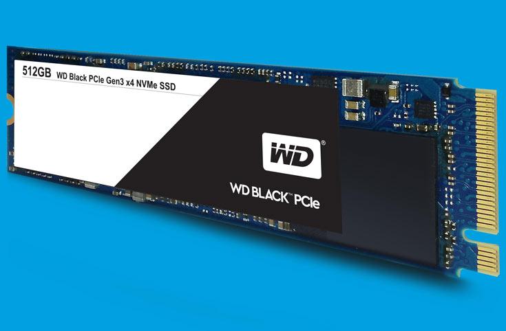 Твердотельные накопители WD Black PCIe оснащены интерфейсом PCIe Gen3 x4