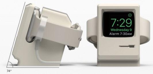 Зарядное устройство Elago W3 для Apple Watch выполнено в форме компьютера Macintosh 128K