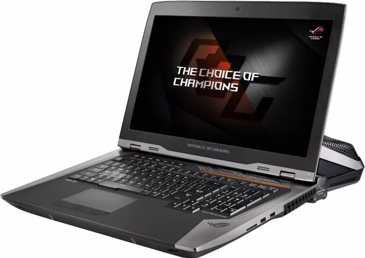 Asus ROG GX800VH — первый игровой ноутбук с 18-дюймовым экраном, поддерживающим технологию Nvidia G-Sync