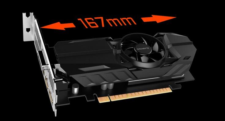 Видеокарты Gigabyte GTX 1050 OC Low Profile 2G и GTX 1050 Ti OC Low Profile 4G выделяются габаритами