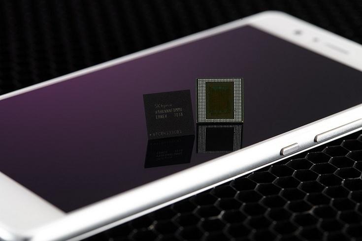 SK Hynix будет выпускать восьмигигабайтные микросхемы LPDDR4X
