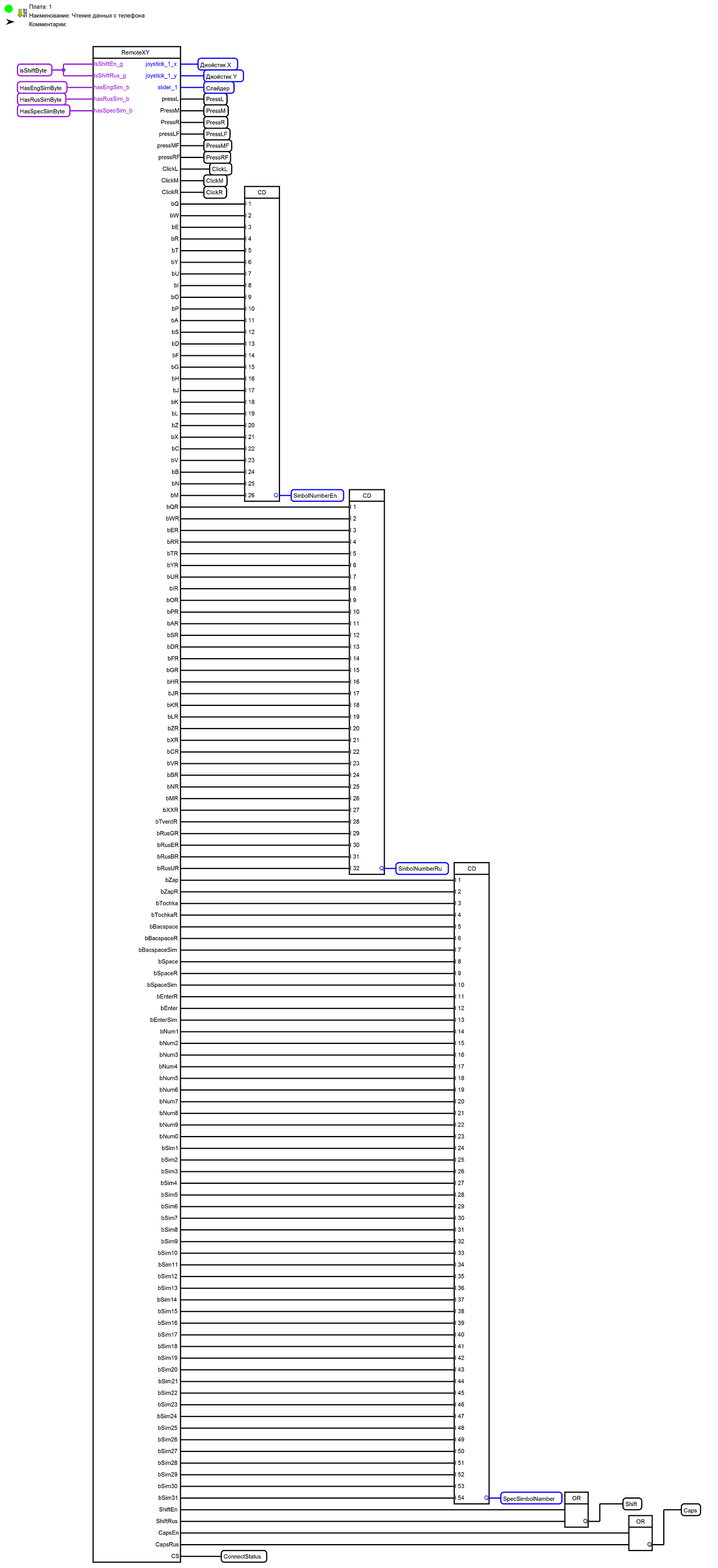 FLProg + RemoteXY=Беспроводная клавиатура для компьютера на Вашем телефоне - 7