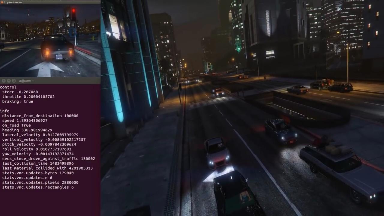 GTA V подключили к платформе OpenAI Universe для обучения ИИ автопилота - 2