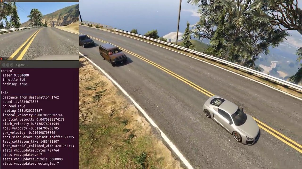 GTA V подключили к платформе OpenAI Universe для обучения ИИ автопилота - 1