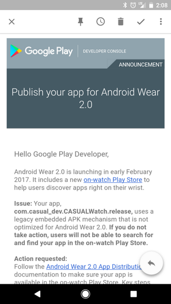 ОС Android Wear 2.0 уже на подходе