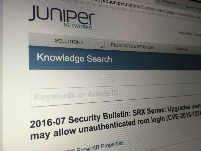 Обновление для межсетевых экранов Juniper открывает несанкционированный root-доступ к устройствам - 1
