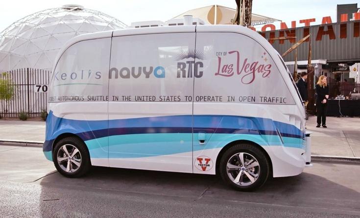 В Лас-Вегасе начали испытания беспилотного автобуса