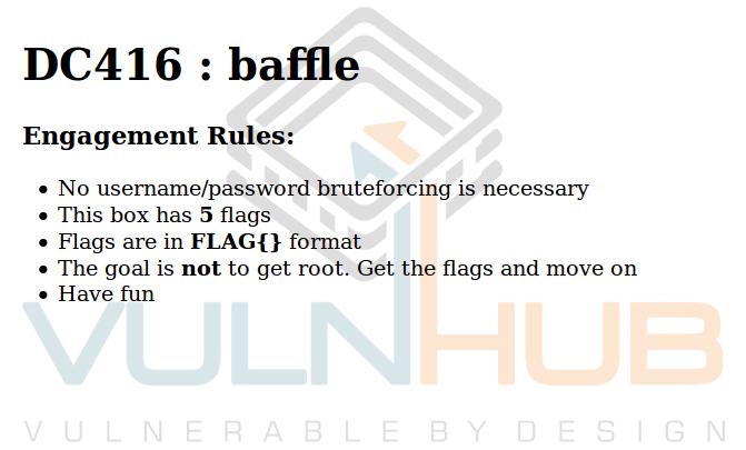 VulnHub: Реверсим всё что можно в DC416 Baffle - 1