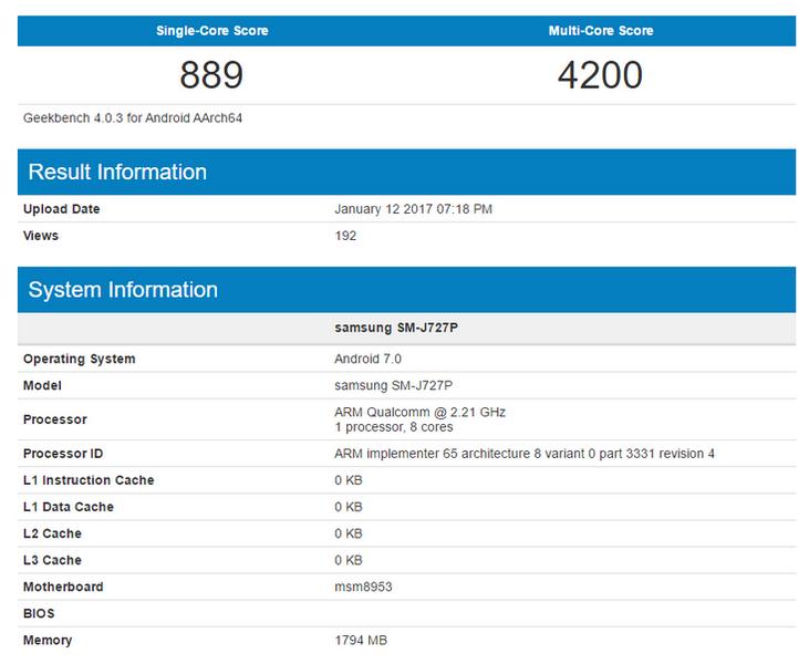 Samsung Galaxy J7 будет основан на SoC Snapdragon 626