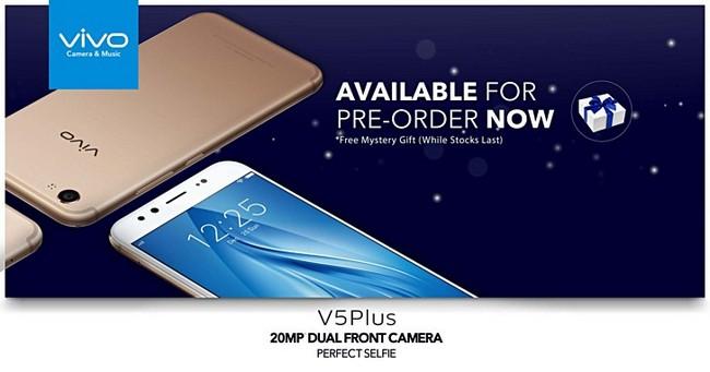 Смартфон Vivo V5 Plus с двумя фронтальными камерам, который будет представлен на этой неделе, уже доступен для предзаказа